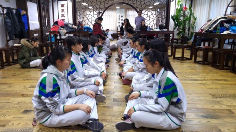 """Just like me"" meditation at Bayi School in Beijing"