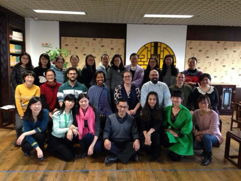 With teachers from 'teachers workshop' at Bayi School in Beijing, China