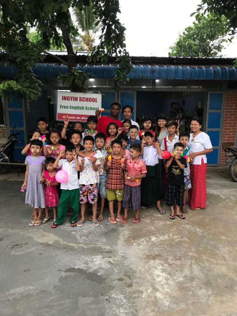 Origami program at the Ingyin School in Myanmar